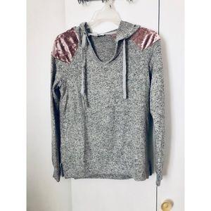 Grey light hoodie